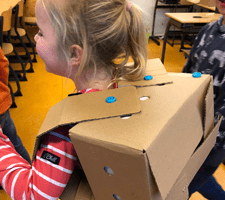 wearables wearable byor makedo karton maakeducatie programmeren creatieve technologie